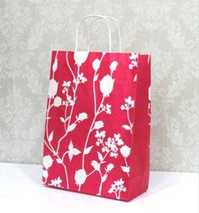 b35f8ff70 Bolsa de papel con diseño de flores fucsia 32×40+14 (25uds)
